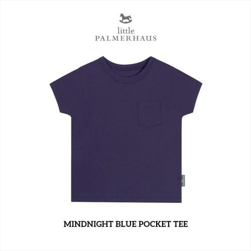 Foto Produk Little Palmerhaus - Pocket Tee (Kaos Oblong Anak) 1-6Thn - MIDNIGHT BLUE, 1 Year dari Little Palmerhaus