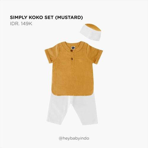 Foto Produk Hey Baby Simply Koko Set - Mustard, 2-3y dari Hey! Baby