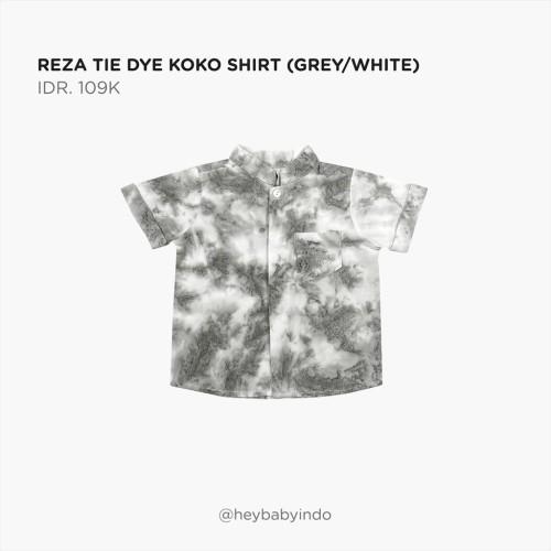 Foto Produk Hey Baby Reza Tie Dye Koko Shirt - Grey / White, 6-9m dari Hey! Baby