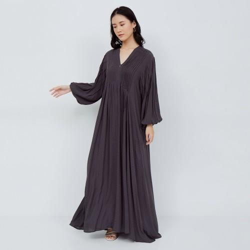 Foto Produk NONA Boho Dress Maxi Washed Black - Long Dress Abu Tua dari nona_ind