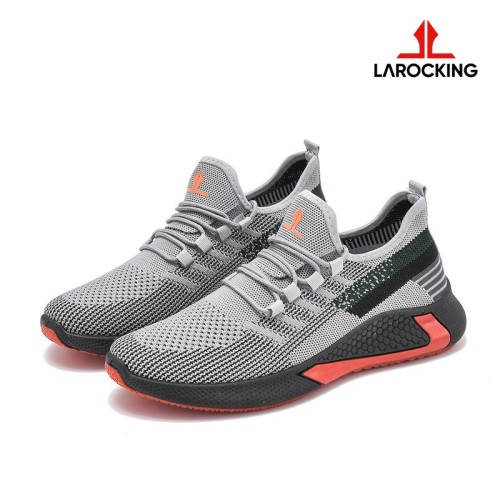 Foto Produk Larocking - Vortex Abu | Sepatu Sneakers Running Gym Shoes Sports - Abu, 39 dari Larocking