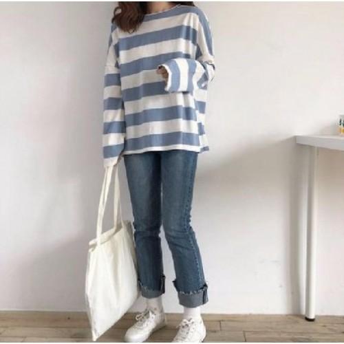 Foto Produk TERMURAH Fashion Wanita Atasan Kaos Jumbo XXL Oversize Keith - Biru dari Lave Inc.