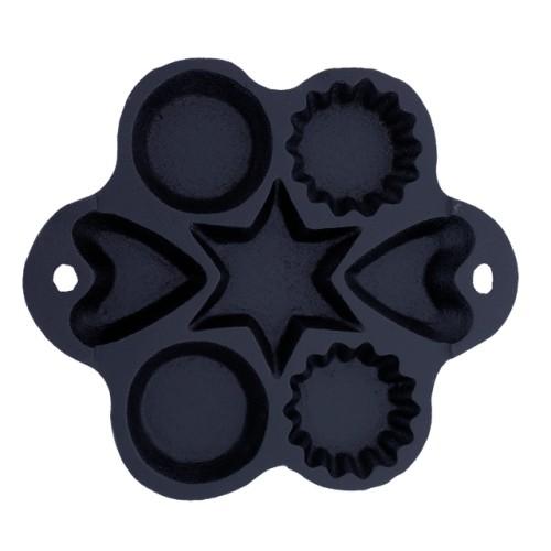 Foto Produk Cetakan Kue Pukis Kering Cubit Variasi 4 Bentuk Berbeda (19B) AKEBONNO - BLACK dari 19Bodeba