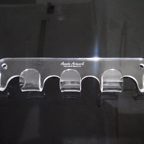 Foto Produk Gantungan Baju Dinding Minimalis Acrylic 5 Hook (19B) ANANTA ARTWORK dari 19Bodeba