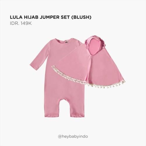 Foto Produk Hey Baby Lula Hijab Jumper Set 2021 - Blush, 1-2y dari Hey! Baby