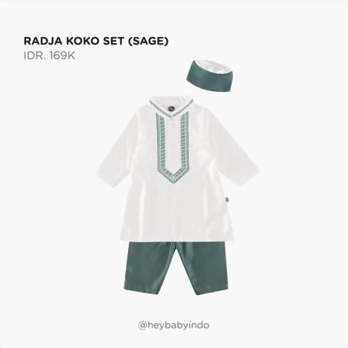 Foto Produk Hey Baby Radja Koko Set - Sage, 3-4y dari Hey! Baby