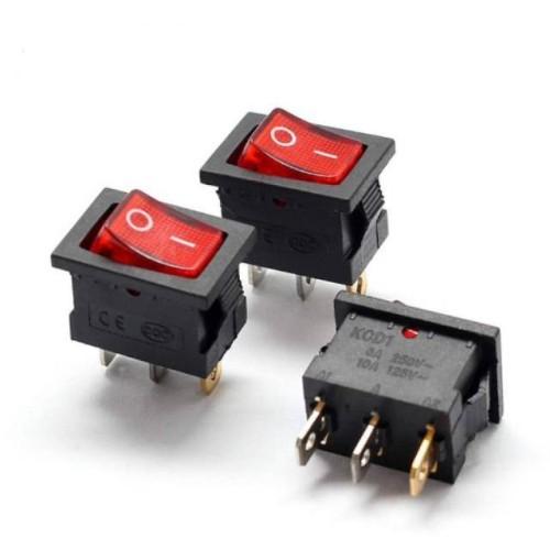 Foto Produk Saklar Switch ON OFF KOTAK Kecil 3 PIN + Lampu Merah dari ElectricalMART ID