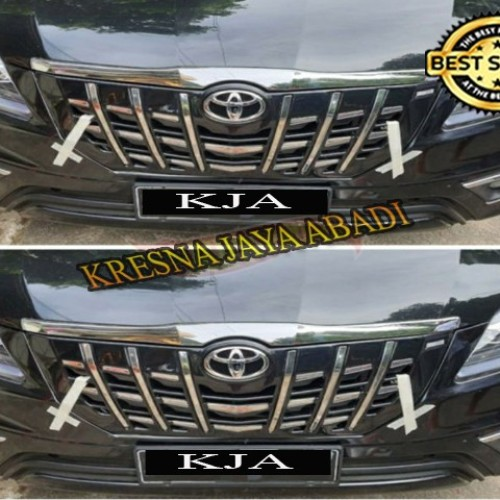 Foto Produk FRONT GRILL DEPAN INNOVA REBORNED MODEL APOLLO LIST CHROME dari KRESNA CAR ACCESORIES