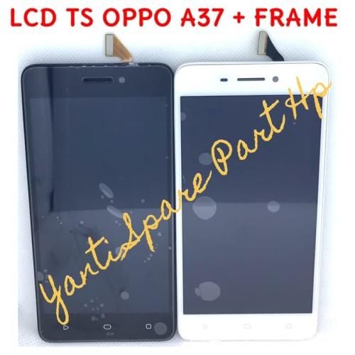 Foto Produk Lcd Touchscreen Oppo A37 A37F Neo 9 Plus Frame Original Terlaris New - Putih dari BEST YES SELLER