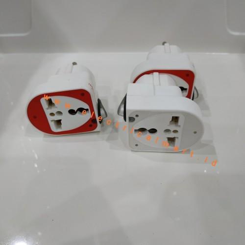 Foto Produk LOYAL Colokan Oversteker Universal Kaki 3 LY-922SK + Switch dari ElectricalMART ID