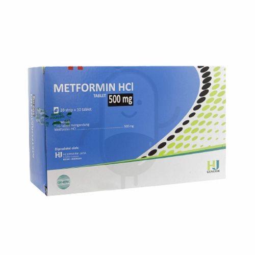 Foto Produk METFORMIN HCL HEXPHARM 500 MG BOX 200 TABLET dari Apotek Labora Farma