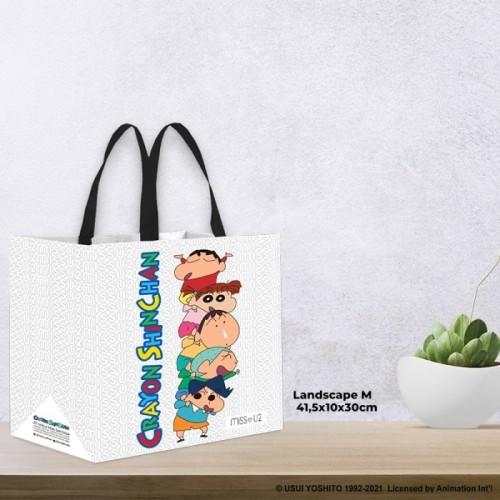 Foto Produk Miss U2 Tas Belanja Crayon Shinchan & Friends Size M & L - M Landscape dari indoshare_id
