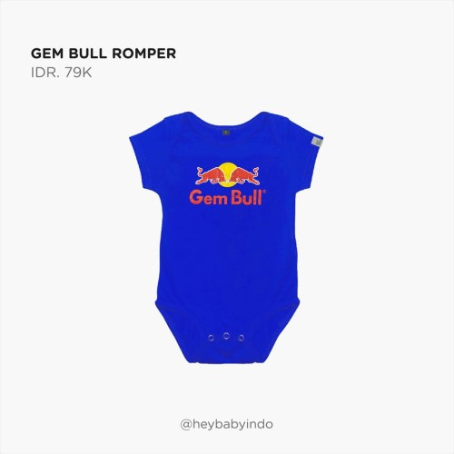 Foto Produk Hey Baby Gem Bull Romper Jumper Anak Bayi - 3-6m dari Hey! Baby
