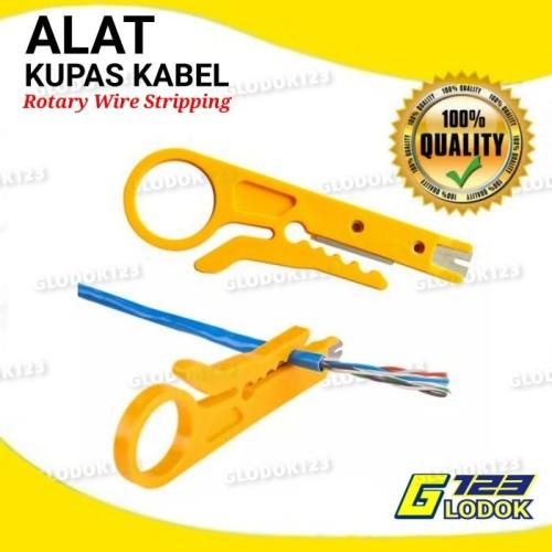 Foto Produk Alat Kupas Kulit Kabel Putar Rotary Wire Stripping - Tanpa Bubble dari Glodok123
