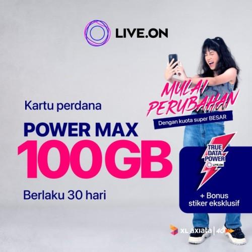 Foto Produk Kartu Perdana Live.On XL Power Max 100GB 30 hari & Sticker G dari Live On Official Store