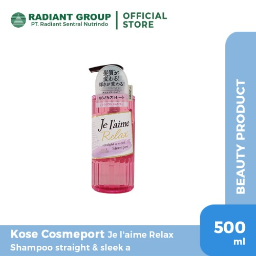 Foto Produk Kose Cosmeport Je L'aime Relax New Shampoo Straight & Sleek dari Radiant Official Store