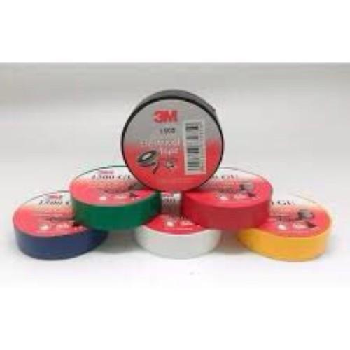 Foto Produk 3M ISOLASI LISTRIK WARNA 1500 Merah Kuning Hijau Biru Putih dari ElectricalMART ID