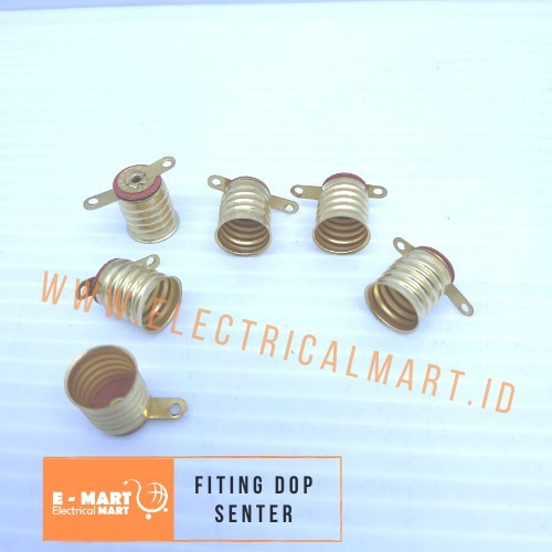 Foto Produk Fiting Lampu Bohlam / Fiting DOP SENTER Drat Kuning Kecil Praktek dari ElectricalMART ID