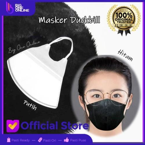 Foto Produk Masker Duckbill Putih Hitam Masker 3D 3 Ply Masker Dakbil Hitam 50 Pcs - Putih, WE-CARE 25pcs dari BigOneOnline