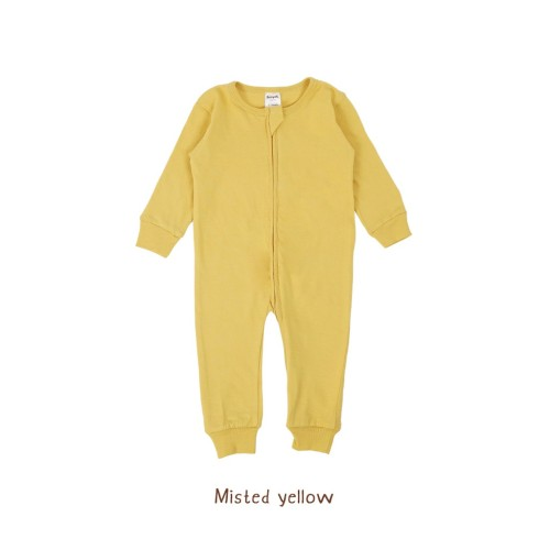 Foto Produk Piyama Bayi - Sleepsuit (0-2Years) - Misted Yellow, 0-3Month dari Booyahkids