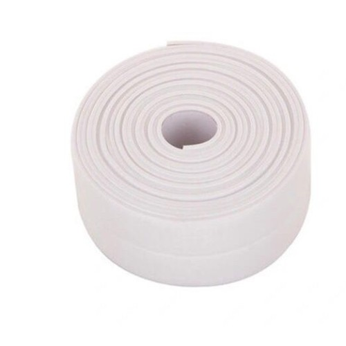 Foto Produk Tape Perekat Sticker Anti Jamur Air Minyak PVC Wastafel Dapur - Putih dari BEC House Official Store