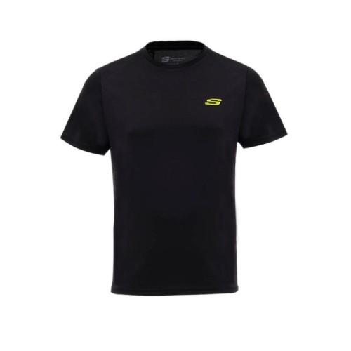 Foto Produk Skechers Men's T-Shirt - Black - Black, ASIA S dari Sports Station Official Store