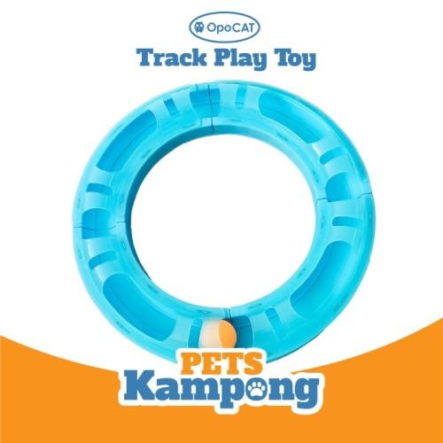 Foto Produk Mainan Kucing Opocat Track Play Toy bola circuit roller - Biru Muda dari Pets Kampong