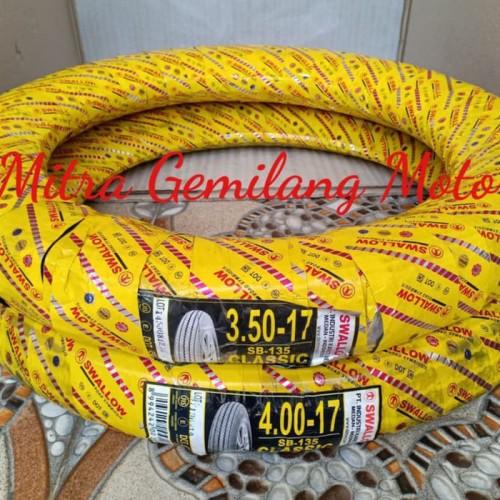 Foto Produk BAN PAKET CLASSIC 350 X 17 DAN 400 X 17 SWALLOW SET SAMA BAN DALAM dari MITRA GEMILANG MOTOR