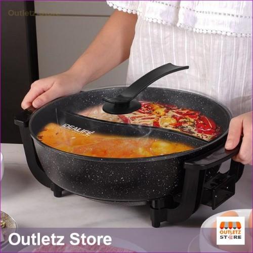 Foto Produk IL-116A Panci Listrik Shabu Suki Steambot Electric Grill IDEALIFE dari Outletz Store