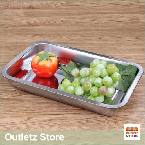 Foto Produk Nampan Saji Baki Persegi Empat Stainless Steel Tahan Karat RPM dari Outletz Store
