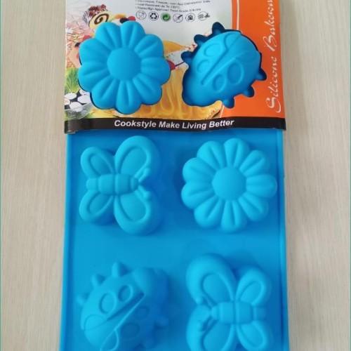 Foto Produk Cetakan Kue Es Puding Coklat Jelly Aneka Bentuk Silikon TIRO - MIX COLUR dari Outletz Store