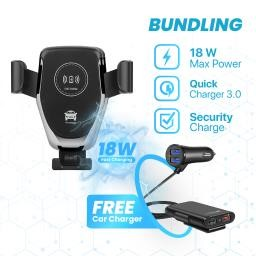Foto Produk BUNDLING JOYSEUS Wireless Car Charger & Car Charger 4 Ports QC3.0 dari Joyseus Official Store