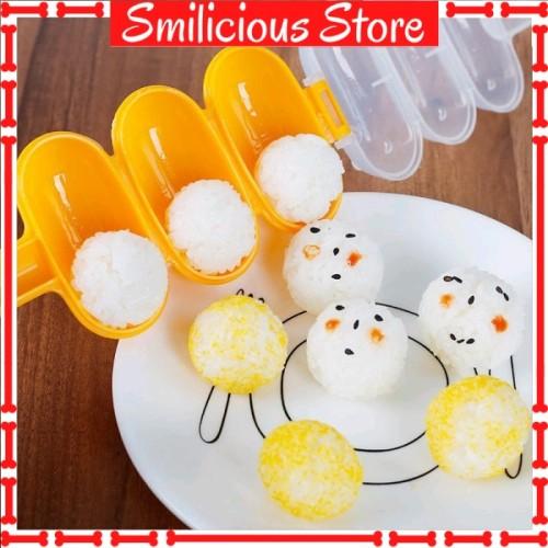 Foto Produk RICE BALL SHAKER BENTO / CETAKAN NASI BULAT BOLA GULUNG PLUS CENTONG dari Smilicious Store