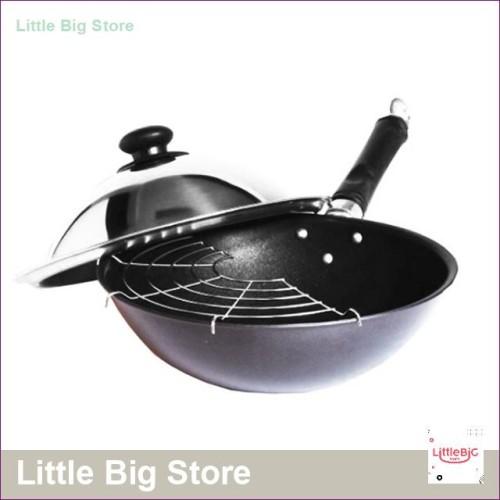 Foto Produk TH-B2 Wok Pan Gagang Satu Saringan Diameter 31 AKEBONNO dari Little Big Store