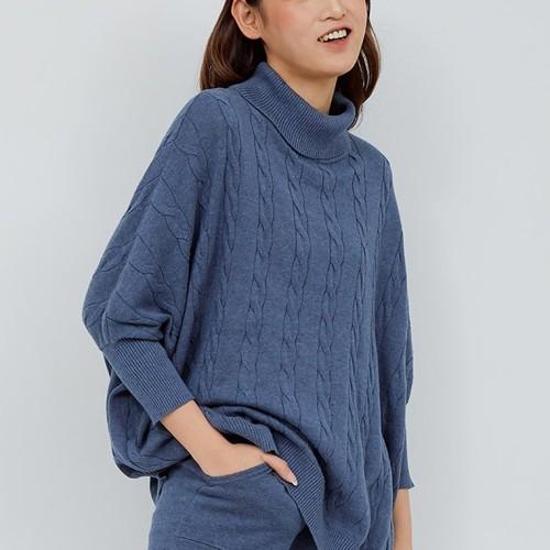 Foto Produk HANA Knitted Blouse - Denim dari Noaeveryday