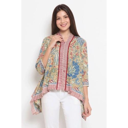 Foto Produk Alaya 3Negeri T0455,Baju atasan kerja blouse batik Nona Rara - XL dari Nona Rara Batik