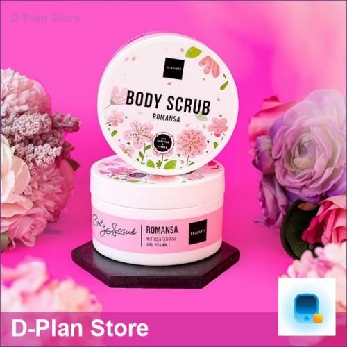 Foto Produk Romansa 250 gr Original BPOM Whitening Body Scrub SCARLETT dari D-Plan Store