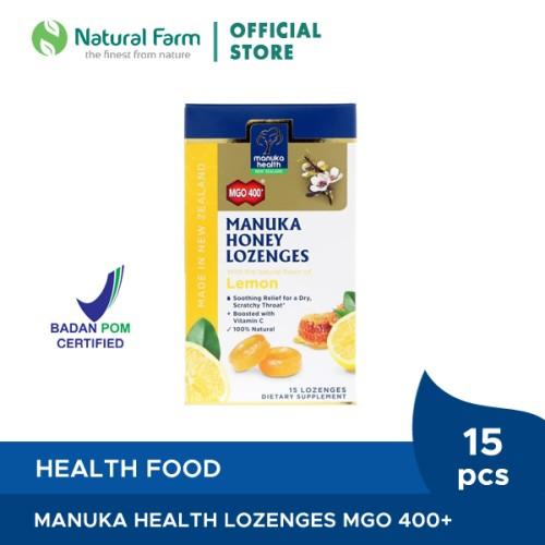 Foto Produk Manuka Health MGO 400+ With Lemon Lozenges dari Natural Farm