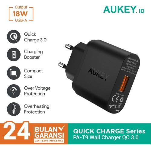 Foto Produk Aukey Charger 1 Port 18W QC 3.0 - 500001 dari AUKEY