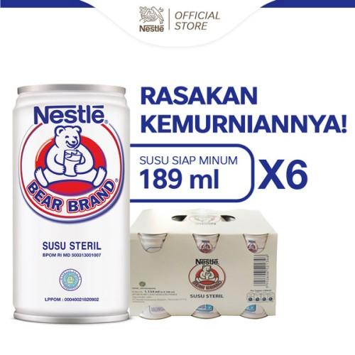 Foto Produk (TERBATAS) BEAR BRAND Susu Kaleng Susu Beruang Steril 189ml x 6 pcs - Bear Brand dari iosi