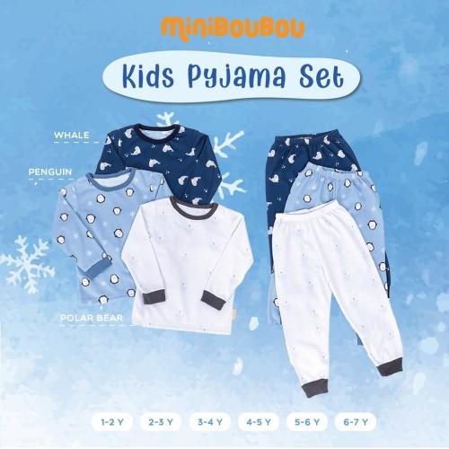 Foto Produk MINIBOUBOU Unisex Long Pyjama Arctic - Polar Bear, XL (3-4Y) dari ARDENLEON