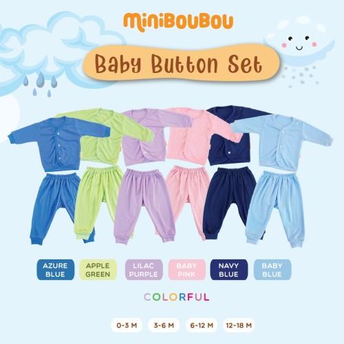 Foto Produk MINIBOUBOU Baby Button Panjang Colorful - Baby Pink, S (0-3 M) dari ARDENLEON