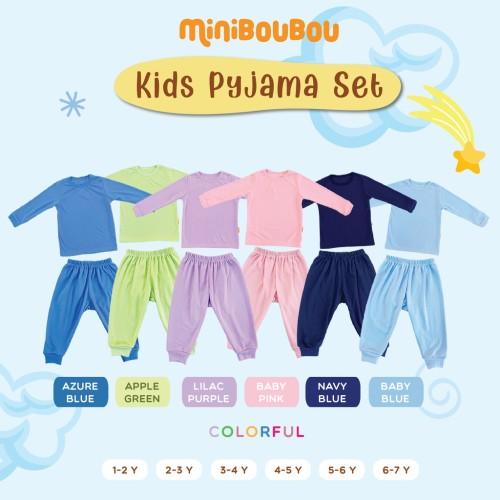 Foto Produk MINIBOUBOU Unisex Long Pyjama Colorful - Azura Blue, M (1-2Y) dari ARDENLEON