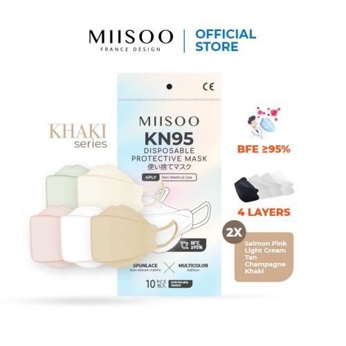 Foto Produk MIISOO Masker Kesehatan EVO KHAKI Series KF94 KN95 4ply - KHAKI 1 Pack dari Miisoo Official Shop