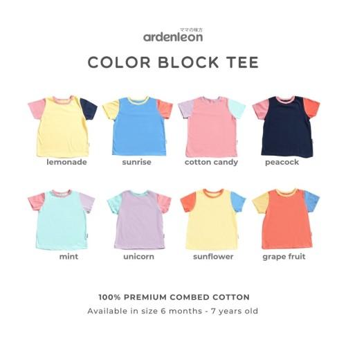 Foto Produk ARDENLEON Unisex Color Block Tee (6 Mo-4 Yr) - Cotton Candy, S dari ARDENLEON