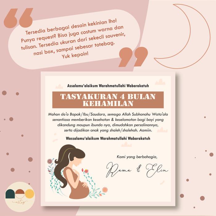 Jual Stiker Label Untuk Syukuran Kehamilan 4 7 Bulanan 7 Cm X 7 Cm Kab Bandung Neo Artsy Tokopedia