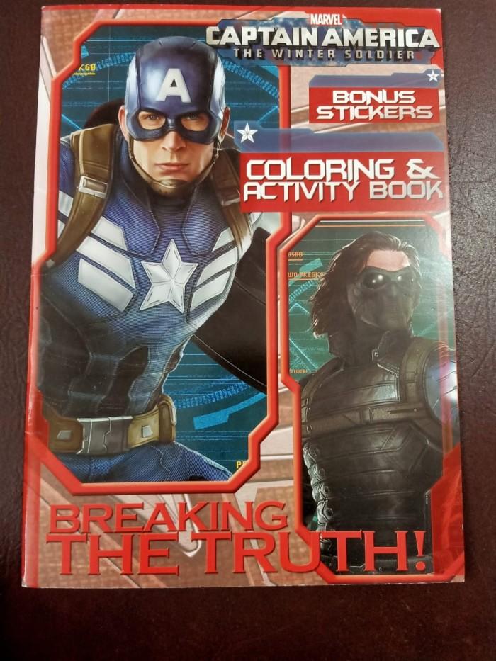 Jual Buku Mewarnai Dan Aktivitas Anak Captain Amerika Breaking Coloring Kab Bandung Tenkai Pitstop Tokopedia