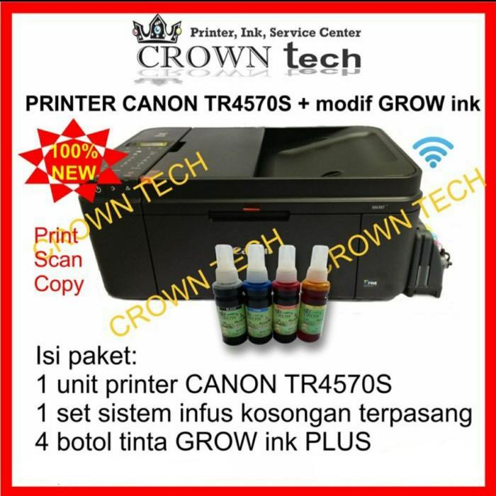 Jual Canon Tr4570s Modifikasi Kosongan Tinta Grow Ink Plus Botolan Kota Surabaya Crown Tech Tokopedia