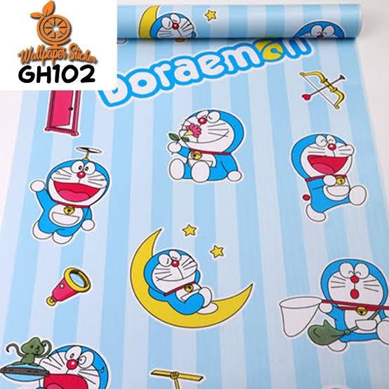 Jual Wallpaper Dinding Murah Motif Kartun Doraemon Garis Biru - Jakarta  Utara - Kurniawanwallpaper | Tokopedia
