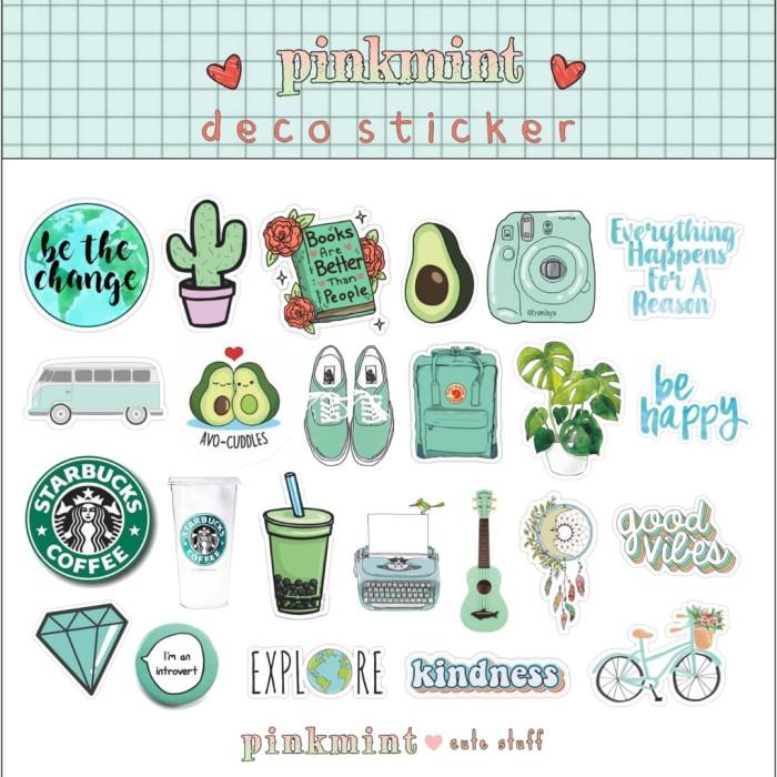 Jual Sticker Aesthetic Lucu Buat Catatan Bujo Laptop Dll Tosca Jakarta Barat Vlins Shop Tokopedia
